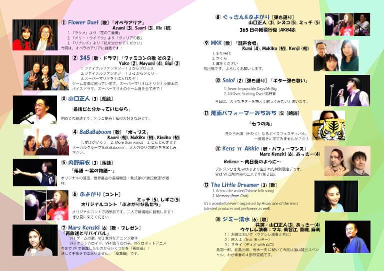第7回ボイスフェスティバル-Sydneyのプログラム