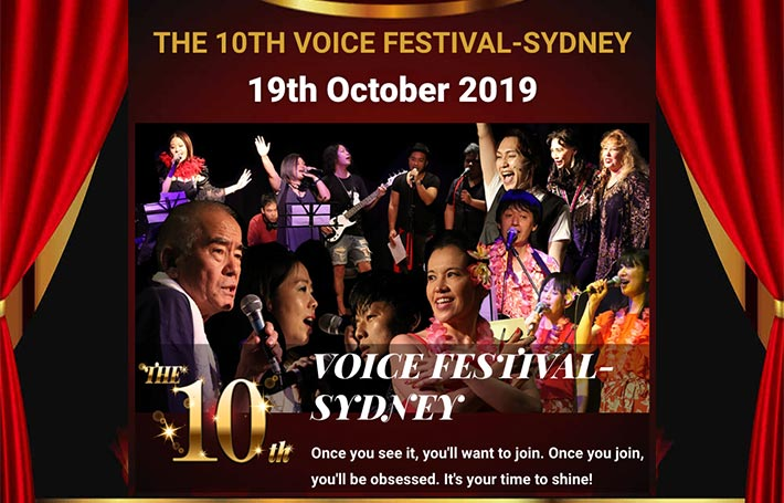 The 10th Voice Festival-Sydney on the Saturday 19th October 2019 at The Seymour Centre